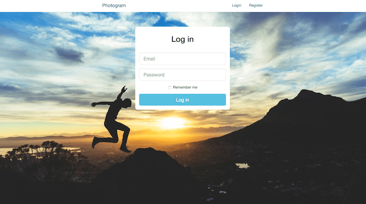 New Login Page